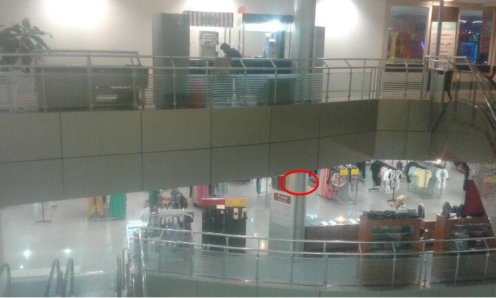 نمونه محل نصب دستگاه LBS در مراکز تجاری