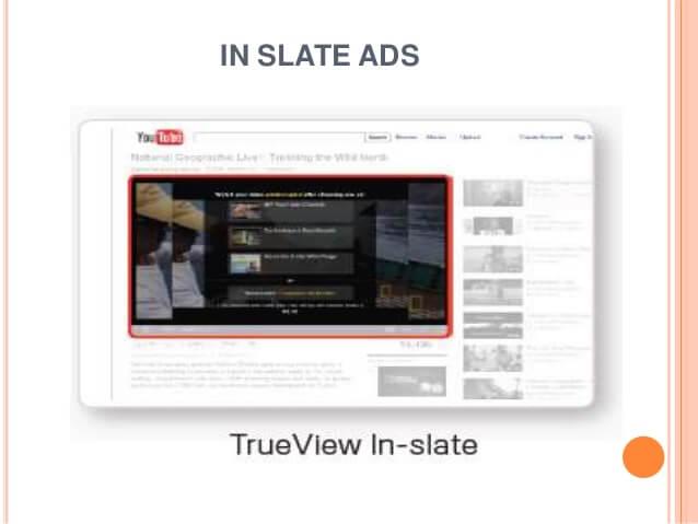 تبلیغ In-Slate در یوتیوب