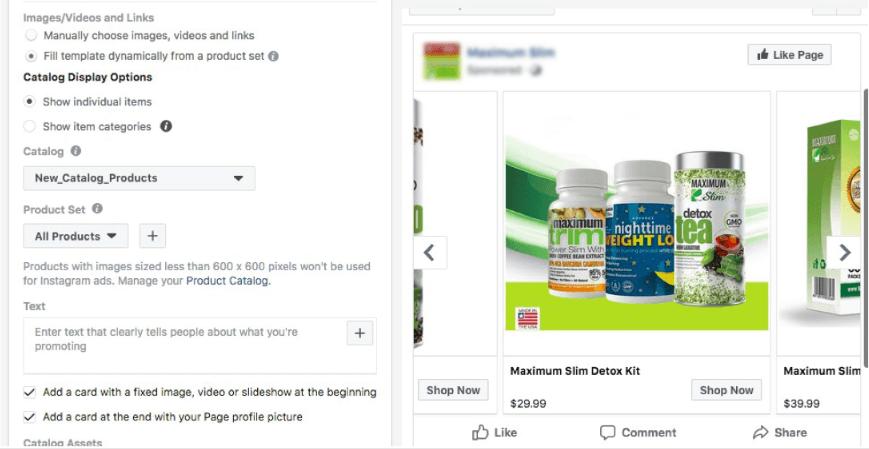 E-commerce-website facebook ads management