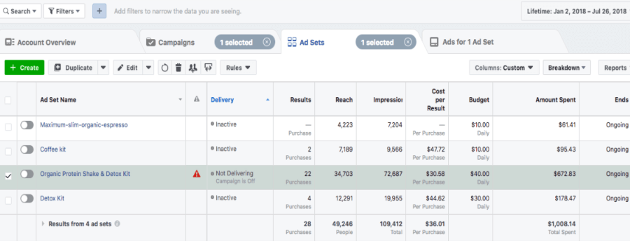 facebook ad management and optomazation services