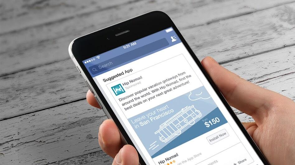 افزایش نصب اپلیکیشن در فیس بوک تبلیغات بین المللی