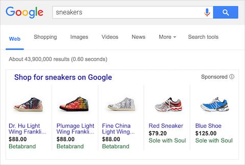 تبلیغات محصول در گوگل شاپینگ