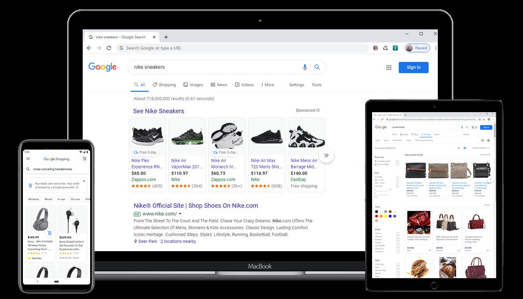 تبلیغات نتیجه گرا در گوگل شاپینگ