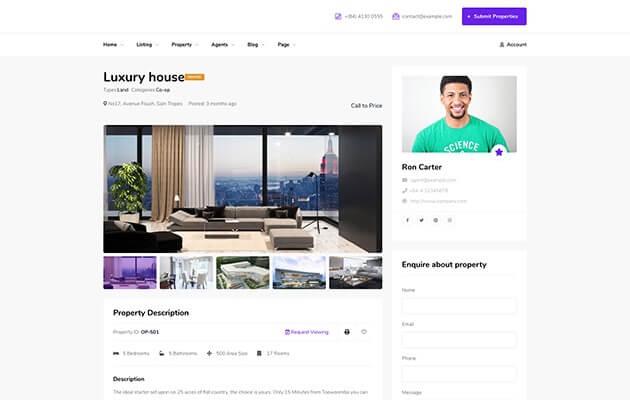 Website Design for Real Estate Consultant & agent