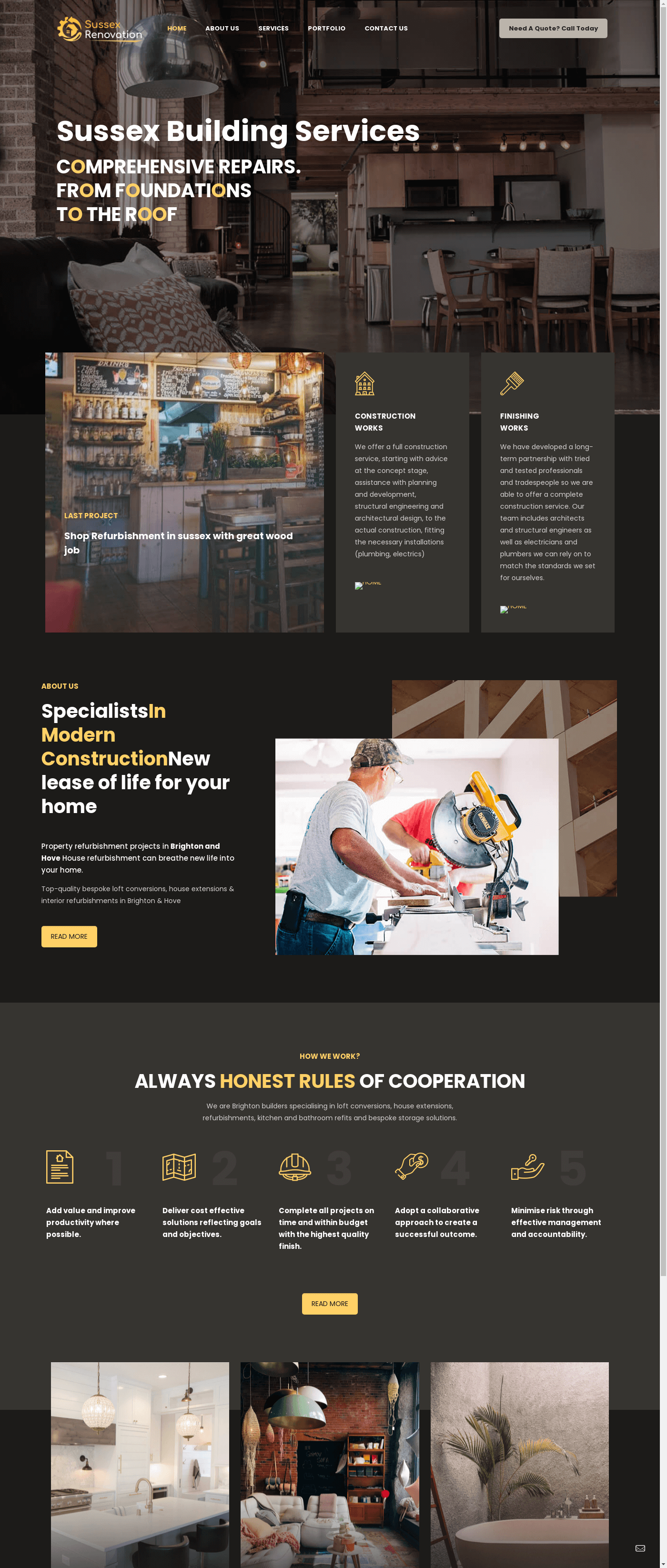 sussex renovation- ad1 agency website desing renovation