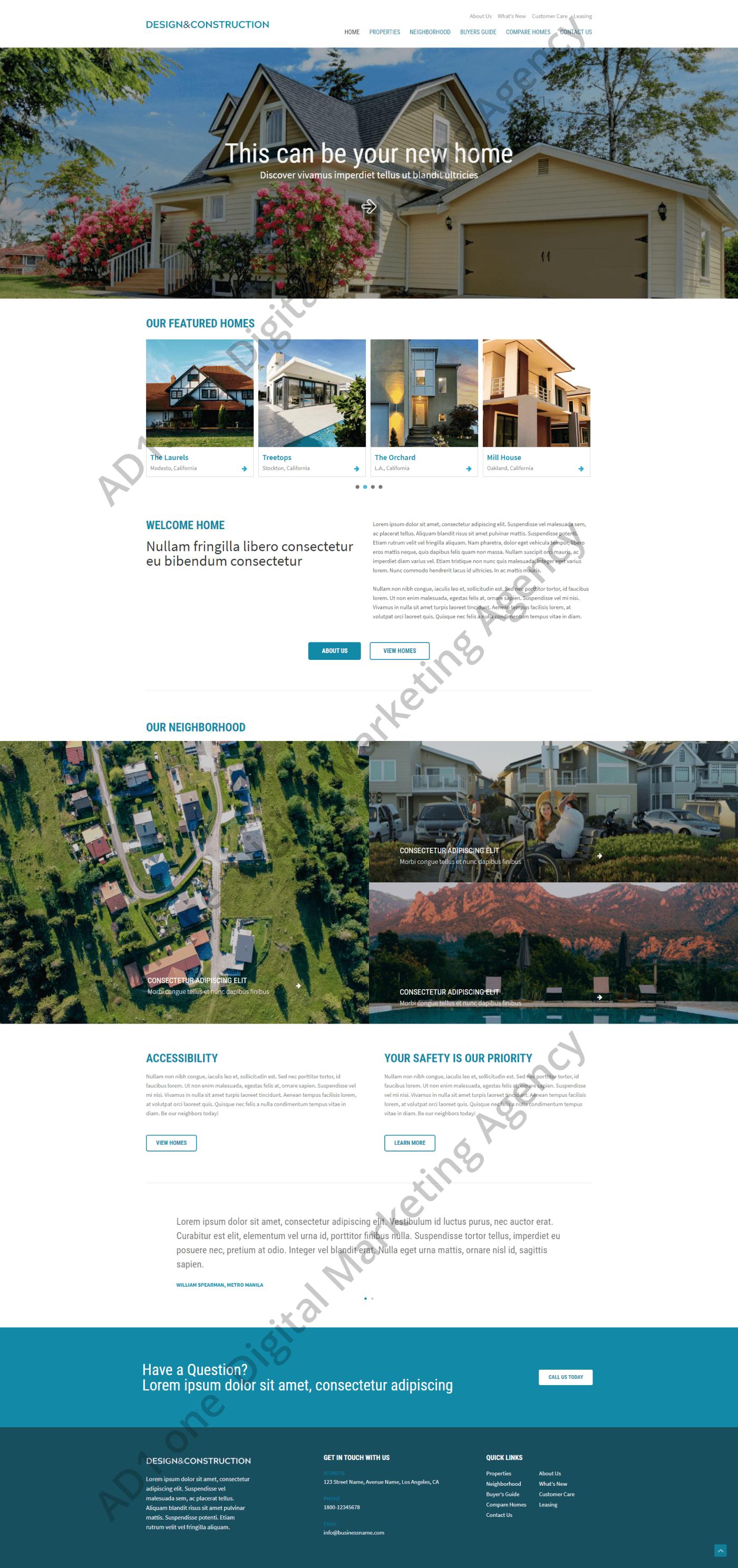 Magnolia- ad1 agency website desing project