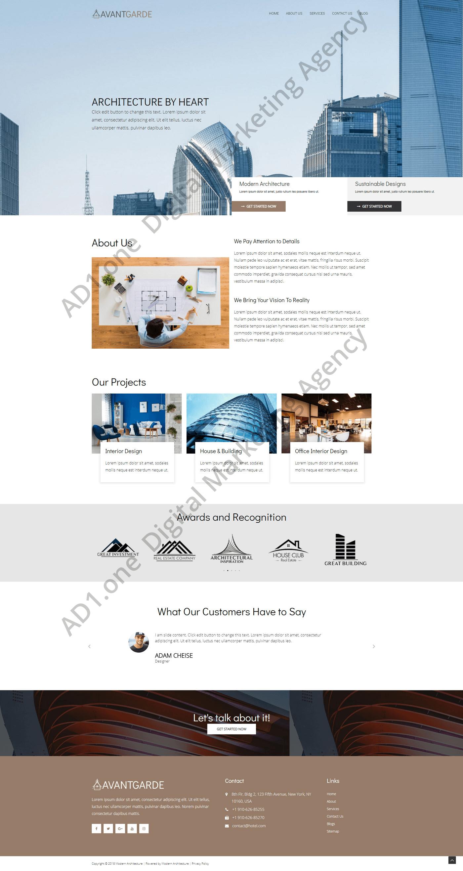 Sano- ad1 agency website desing project