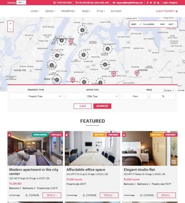 Real Estate agency Website Design - Web desinge Company ad1.one