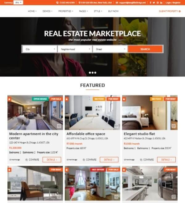 Website Design for Real Estate marketplace with ad1 agency